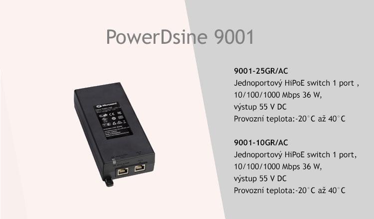 PowerDsine 9001-10GR/AC a 9001-25GR/AC